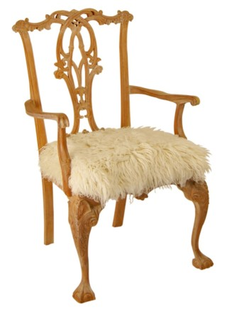 Medici Wool Carver Chair