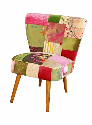 Mid Century Cocktail chair – Patchwork Equis