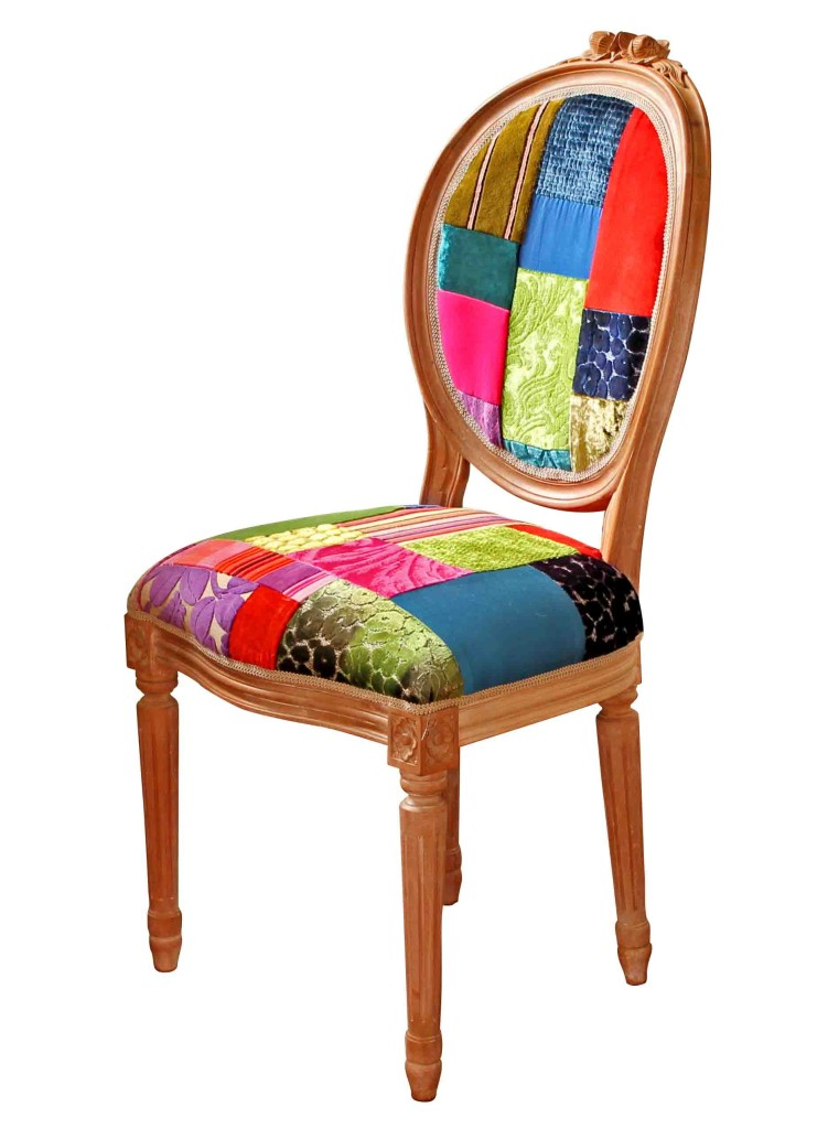 Light Shade Patchwork Dining Chair Kelly Swallow Bespoke Chairs