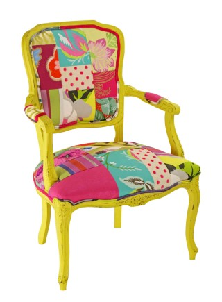 Pink Punk Patchwork Chair  – Made to Order