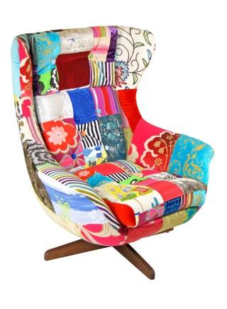 Vintage Patchwork Egg Chair