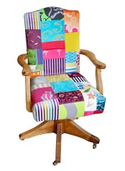 Vintage office patchwork chair