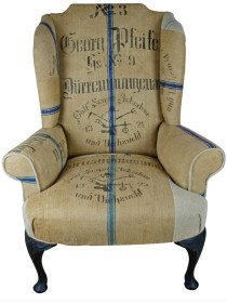 1924 German Grain Sack Wing Chair