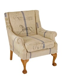 1931 Ball and Claw Antique Grain Sack Chair