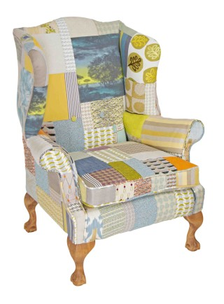 Saoirse Patchwork Wing Chair