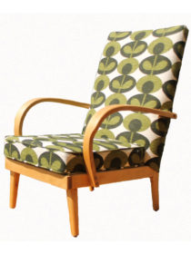 Vintage Curved Arm Chair – Orla Kiely Oval Flower