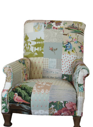 Bowie Words Tapestry Edwardian Chair