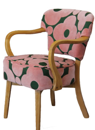 Orla Kiely Velvet Fabric Vintage Chair