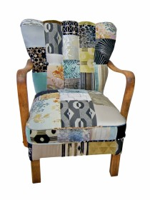 Art Deco Patchwork Chair