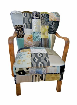 Art Deco Patchwork Chair