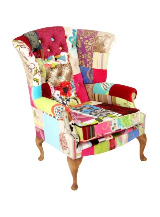 Billingscroft  Patchwork Wing Chair
