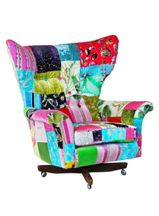 Blofeld Swivel Patchwork Chair