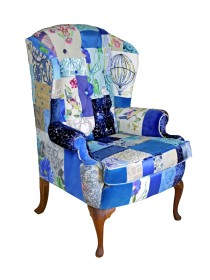 Blue Belle Patchwork Chair