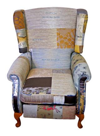 Lyrics Patchwork Chair