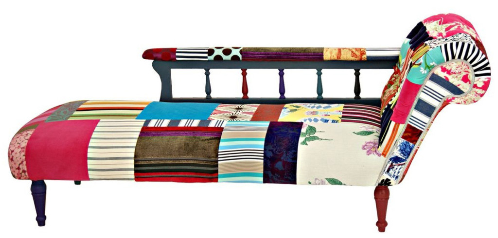 Patchwork chaise longue kelly swallow bespoke chairs - Chaise anders patchwork ...