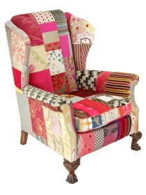 Clarissa – Patchwork Wing Chair