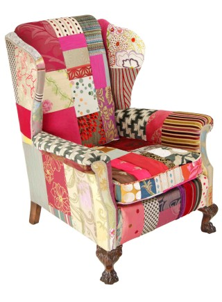 Clarissa – Patchwork Wing Chair