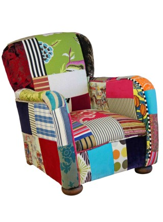 Kids Patchwork Club Chair