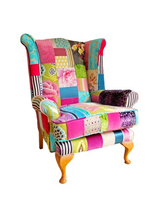 Bespoke Wingback Patchwork Chair – Fulham Bloom