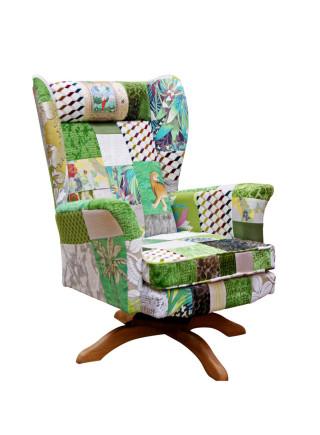Vintage Swivel Patchwork Chair – Envy