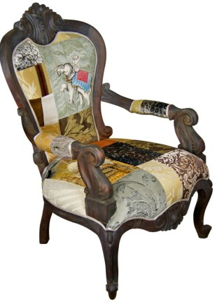 Golden Swallow Patchwork Armchair – Made to Order