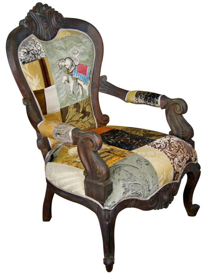 Golden Swallow Patchwork Armchair Made To Order Kelly