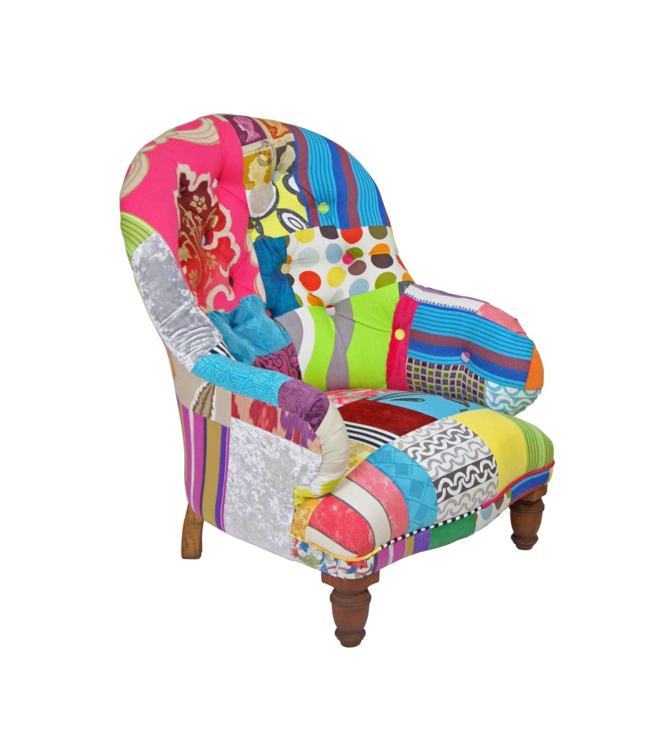 Victorian Buttoned Patchwork Chair | Kelly Swallow Bespoke ...