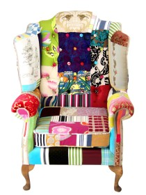 Sleeping Tigers – Patchwork Wing Chair