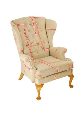 Vintage linen Wing Chair – Mangle Cloth Mother