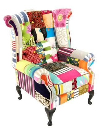 Matt Black Wing Chair