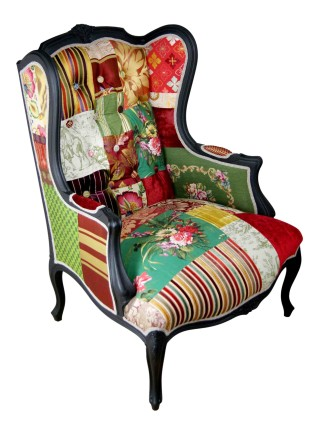 Rich Hues Patchwork Chair