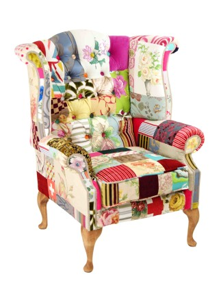 Bespoke Wingback Patchwork Chair – Penny Lane  Mad Hatter