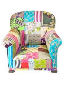 Vibrant Patchwork Club Chair