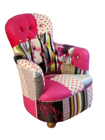 Pink Princess Patchwork Chair