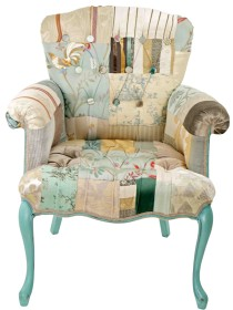 Provence Buttons Patchwork Chair