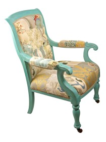 Victorian Provence Buttoned Chair