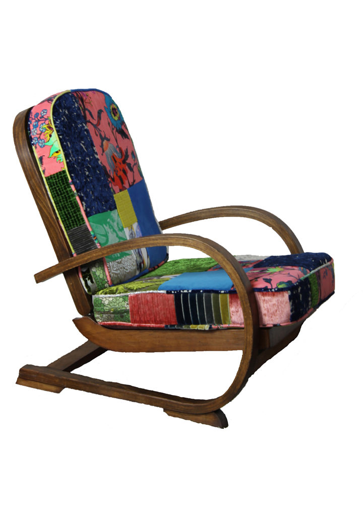 Astonishing Tiger Deco Patchwork Chair Kelly Swallow Bespoke Chairs Theyellowbook Wood Chair Design Ideas Theyellowbookinfo