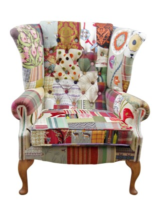 Tweed Adventure Wing Chair