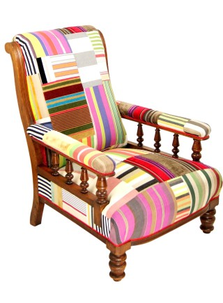 Striped Victorian Chair