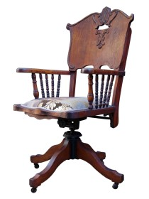 Wild West Antique Desk Chair