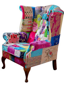 Fulham Mad Hatter Wing Patchwork Chair