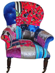 Royal Buttoned Patchwork Chair
