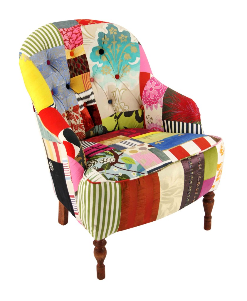 Stratford Buttons Patchwork Chair Kelly Swallow Bespoke