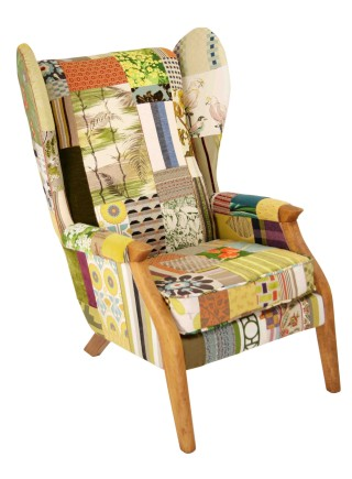 Lady May Mid Century Wing Chair