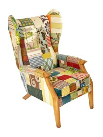 Lady Olive Mid Century Wing Chair