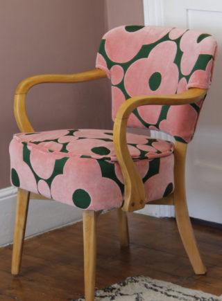 Orla Kiely Velvet Fabric Vintage Chair