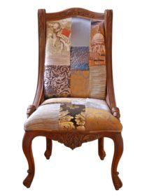 Rust Treasure Patchwork Chair