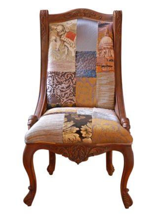 Rust Treasure Patchwork Chair