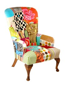 Buttoned Back Chair – 'Blooming Lovely'
