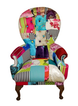 Tall Boy Buttoned Vintage Chair